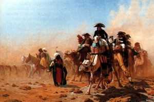 Bonaparte on the march in Egypt and Syria