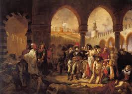 Bonaparte visits the French plague victims at Jaffa
