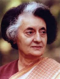 Indira Gandhi, the Indian Prime Minister
