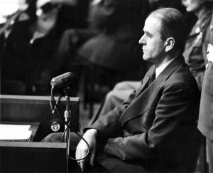 Albert Speer on trial in Nuremberg