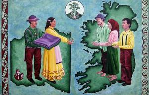 Swedish-Choctaw artist America Meredith's work on Choctaw aid to the Irish