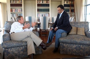 George W Bush, with his pal Prince Bandar bin Sultan,