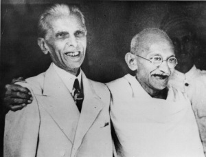Gandhi and Jinnah in happier days